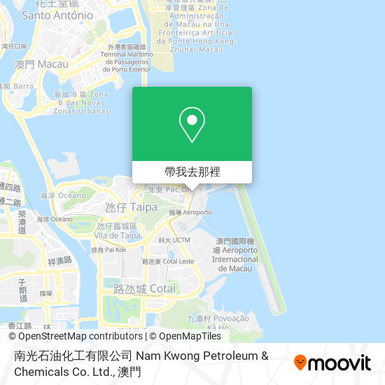 南光石油化工有限公司 Nam Kwong Petroleum & Chemicals Co. Ltd.地圖