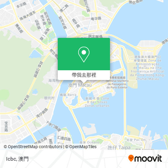 中國工商銀行(澳門) Banco Industrial E Comercial Da China (Macau)地圖