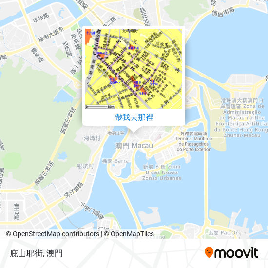 庇山耶街地圖