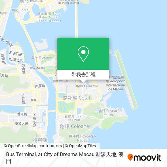 Bus Terminal, at City of Dreams Macau 新濠天地地圖