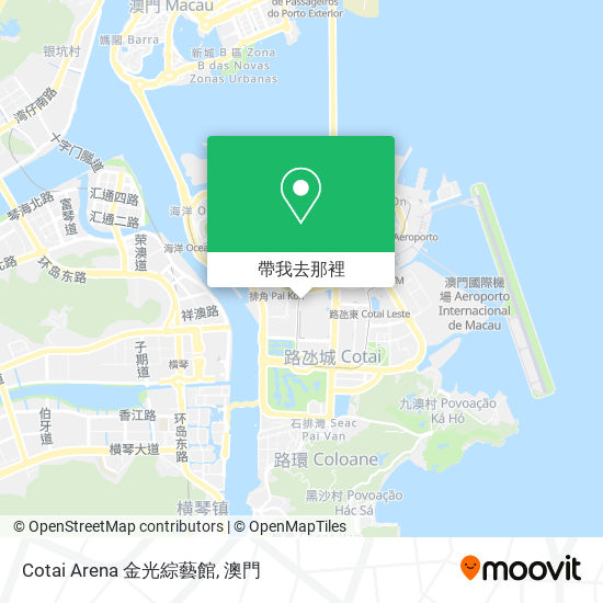Cotai Arena 金光綜藝館地圖