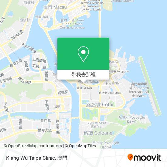 Kiang Wu Taipa Clinic地圖