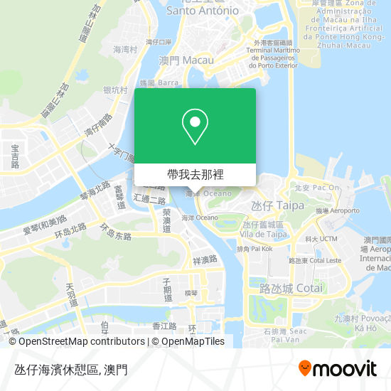 氹仔海濱休憇區地圖
