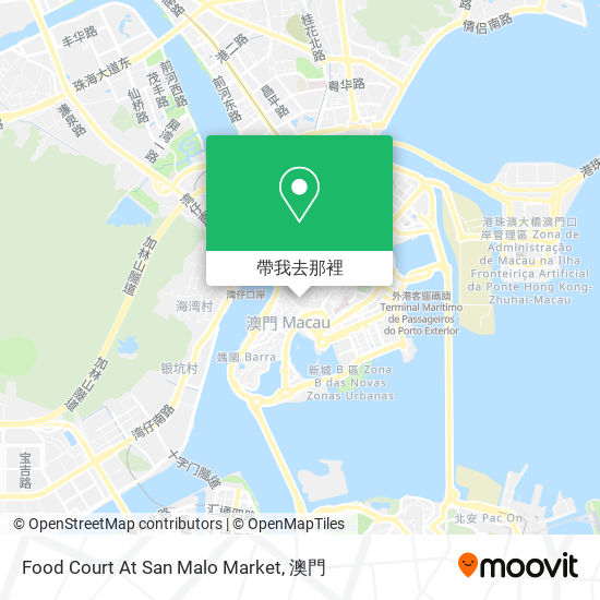 Food Court At San Malo Market地圖