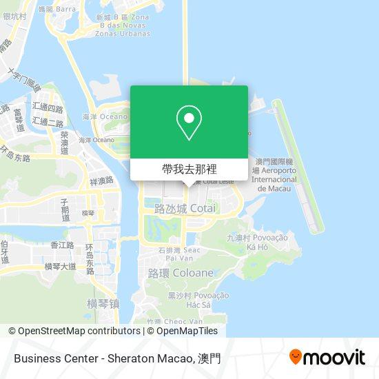 Business Center - Sheraton Macao地圖