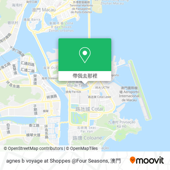 agnes b voyage at Shoppes @Four Seasons地圖