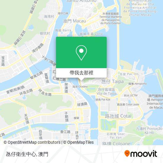 氹仔衛生中心地圖