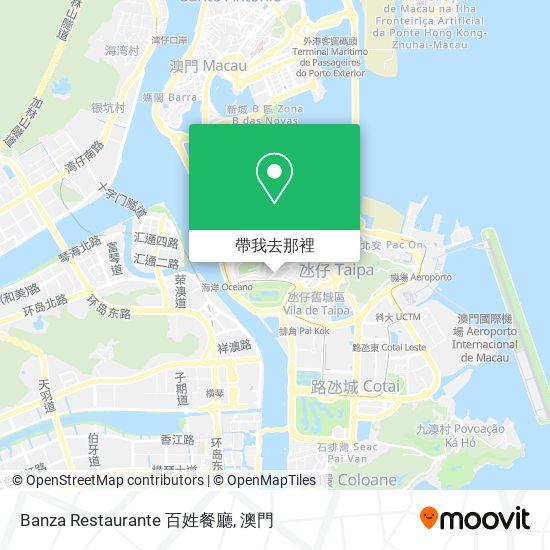 Banza Restaurante 百姓餐廳地圖