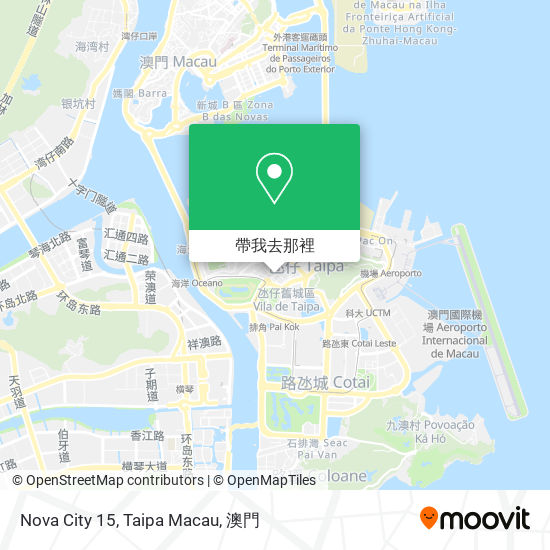 Nova City 15, Taipa Macau地圖