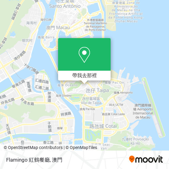 Flamingo 紅鶴餐廳地圖