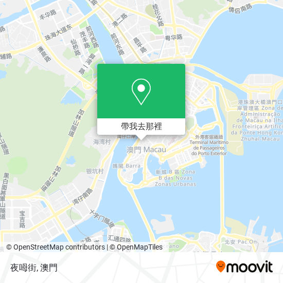夜呣街地圖