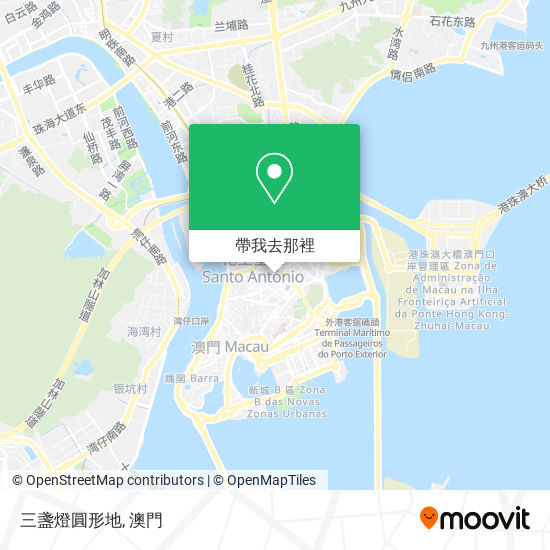 三盞燈圓形地地圖