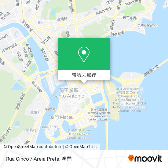 Rua Cinco / Areia Preta地圖