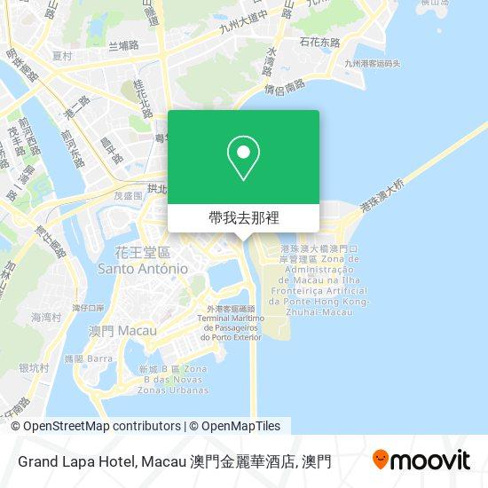 Grand Lapa Hotel, Macau 澳門金麗華酒店地圖