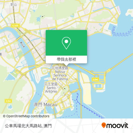 公車馬場北大馬路站地圖