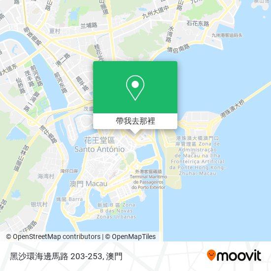 黑沙環海邊馬路 203-253地圖