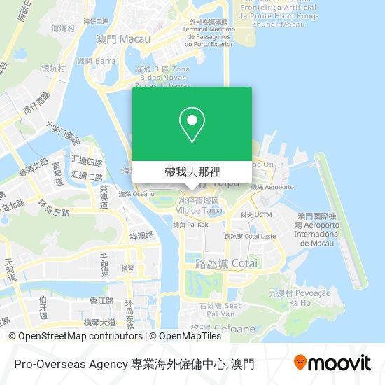 Pro-Overseas Agency 專業海外僱傭中心地圖