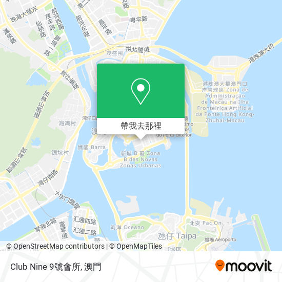 Club Nine 9號會所地圖