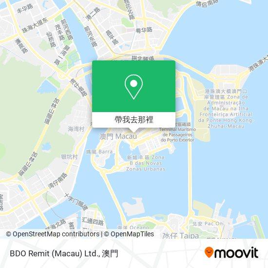BDO Remit (Macau) Ltd.地圖