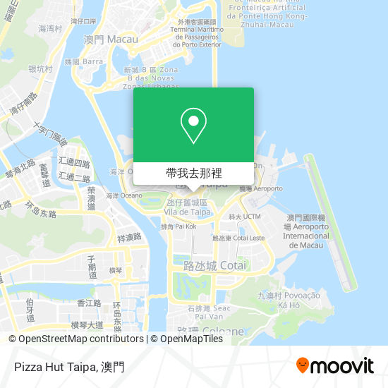 Pizza Hut Taipa地圖