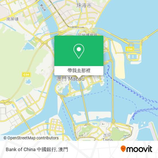 Bank of China 中國銀行地圖