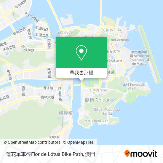 蓮花單車徑Flor de Lótus Bike Path地圖