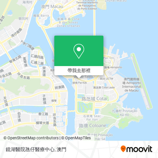 鏡湖醫院氹仔醫療中心地圖