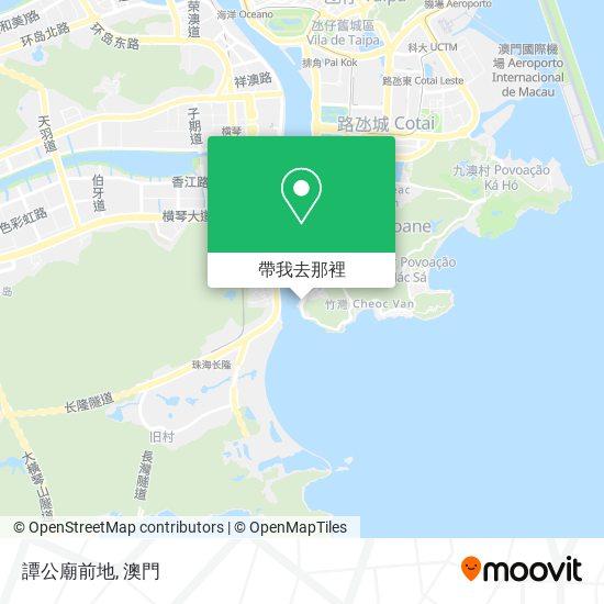 譚公廟前地地圖