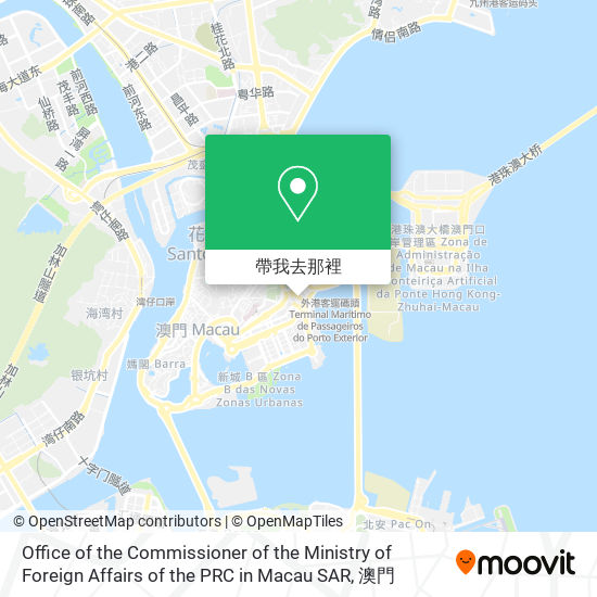 Office of the Commissioner of the Ministry of Foreign Affairs of the PRC in Macau SAR地圖