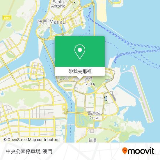 中央公園停車場地圖