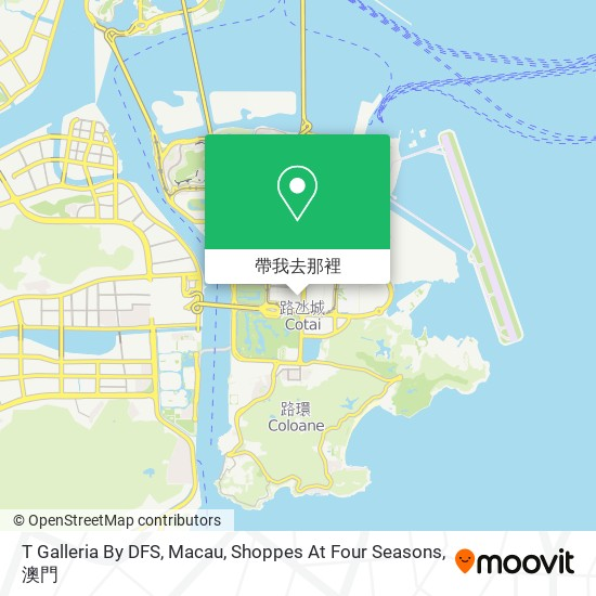 T Galleria By DFS, Macau, Shoppes At Four Seasons地圖