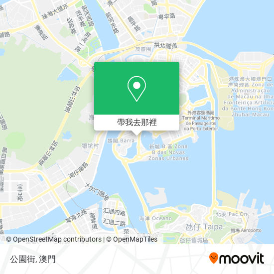 公園街地圖