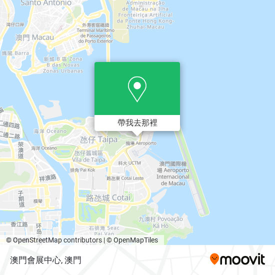 澳門會展中心地圖