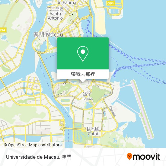 Universidade de Macau地圖