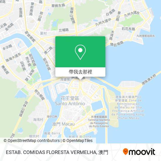 ESTAB. COMIDAS FLORESTA VERMELHA地圖