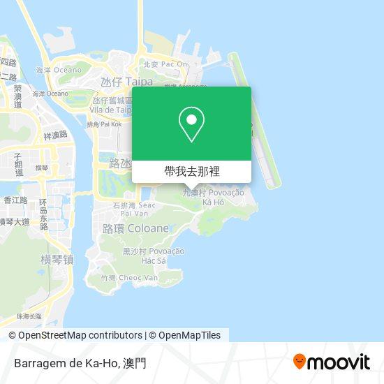 Barragem de Ka-Ho地圖