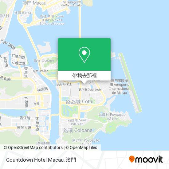 Countdown Hotel Macau地圖