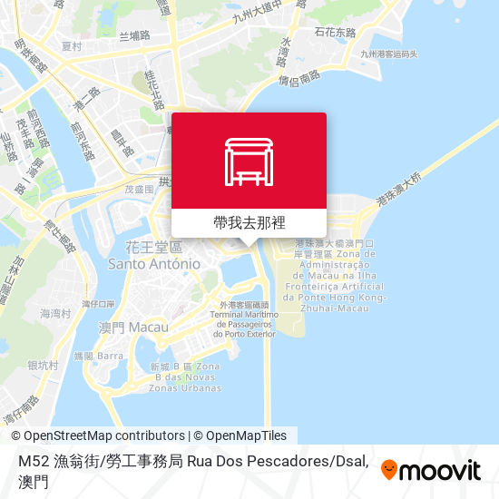 M52 漁翁街 / 勞工事務局 Rua Dos Pescadores / Dsal地圖