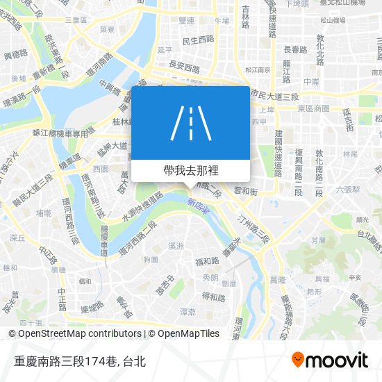 重慶南路三段174巷地圖