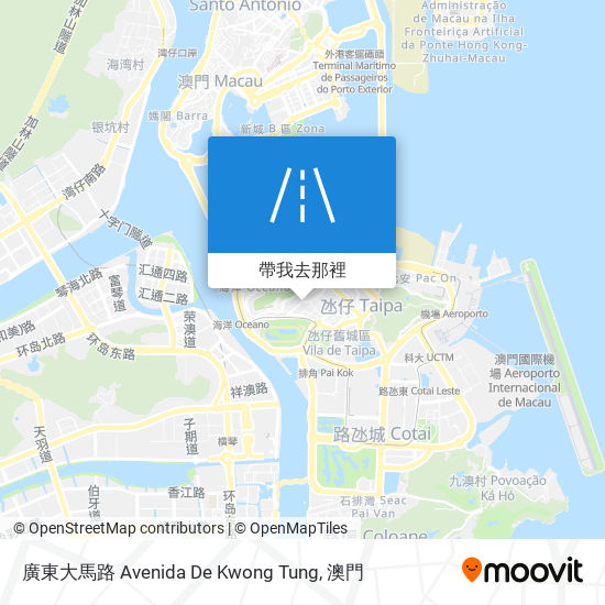 廣東大馬路 Avenida De Kwong Tung地圖