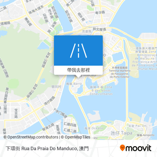 下環街 Rua Da Praia Do Manduco地圖