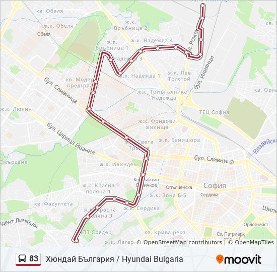 83 Marshrut Vremevi Grafici Spirki I Karti Hyundaj Blgariya