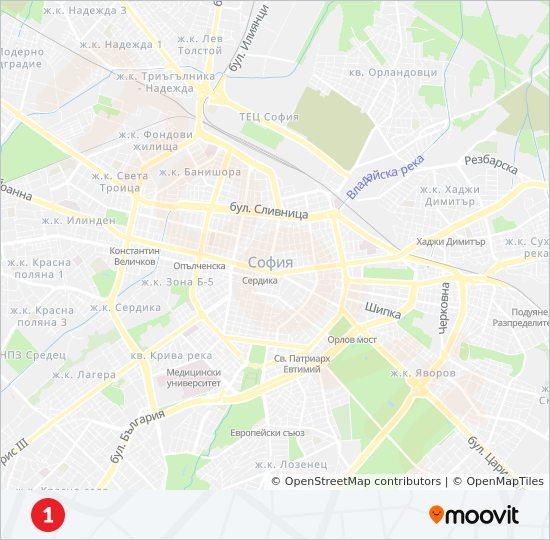 Marshrut M1 Raspisanie Shema I Ostanovki Biznes Park Sofiya