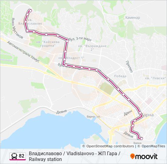 Marshrut 82 Raspisanie Shema I Ostanovki Vladislavovo