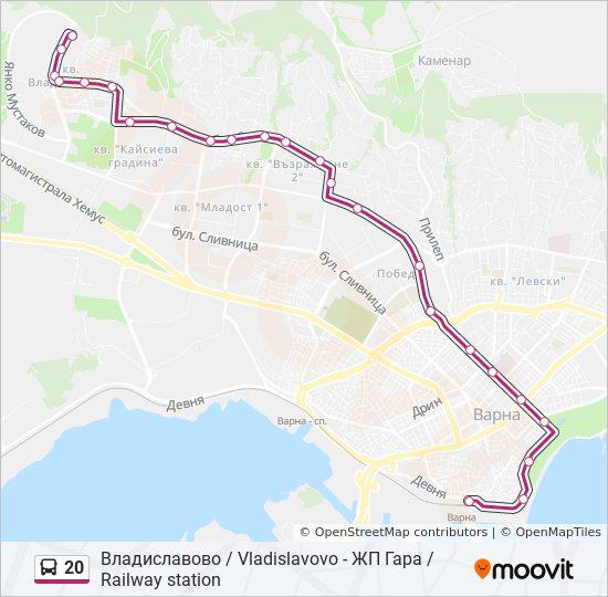 Marshrut 20 Raspisanie Shema I Ostanovki Vladislavovo