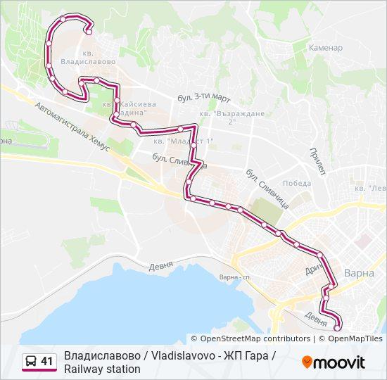 41 Marshrut Vremevi Grafici Spirki I Karti Vladislavovo