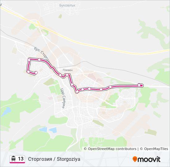 13 Route Time Schedules Stops Maps Storgoziya Storgoziya