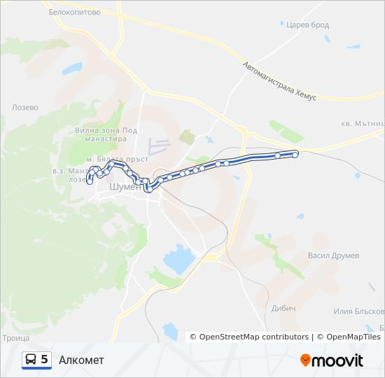 Marshrut 5 Raspisanie Shema I Ostanovki Kv Mtnica