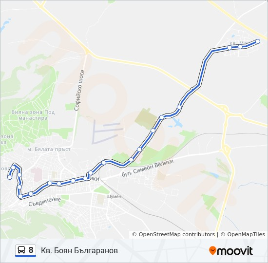 8 Route Time Schedules Stops Maps Selo Konovec