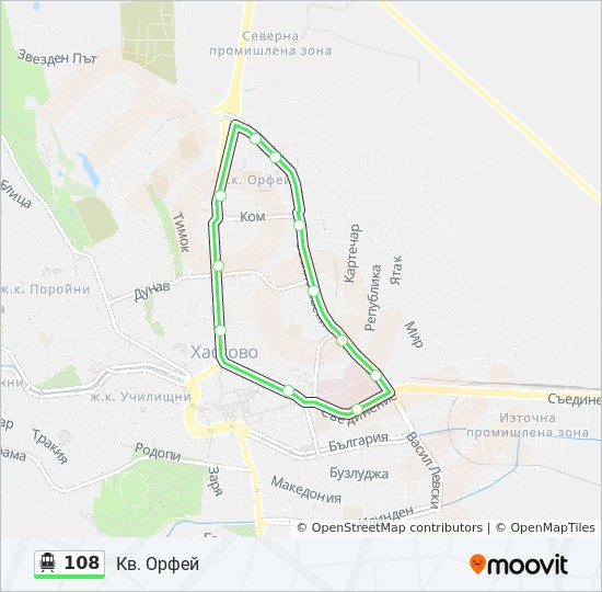 108 Route Time Schedules Stops Maps Kv Orfej